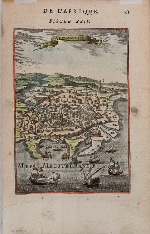 1683 Manesson-Mallet Map of Alexandria, Egypt