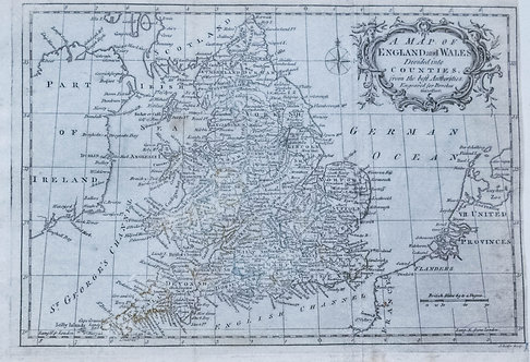 1795 Brookes Map of England and Wales