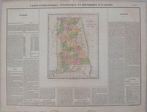 1825 Buchon Map of Alabama
