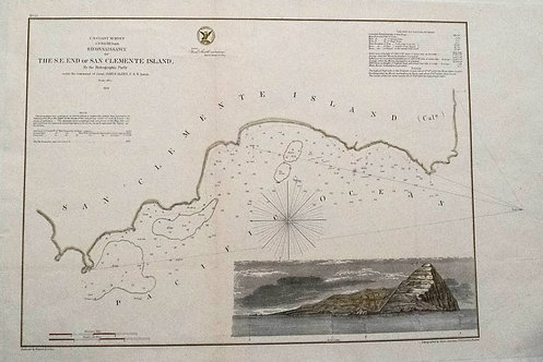 1852 Nautical Chart/Map San Clements Harbor