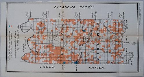 1901 Bien Seminole Nation Map