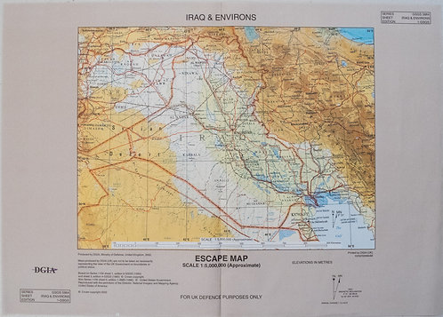 2002 British Escape Map of Iraq