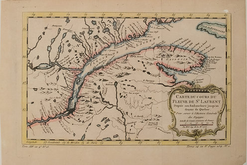 1719 Chatelain Map of Eastern and Central Canada