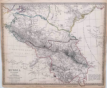 1829 SDUK Map of Caucacus Region including Georgia