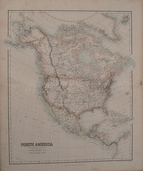 1860 Fullarton Map of North America