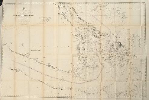 1873 Chart of Strait of Juan de Fuca