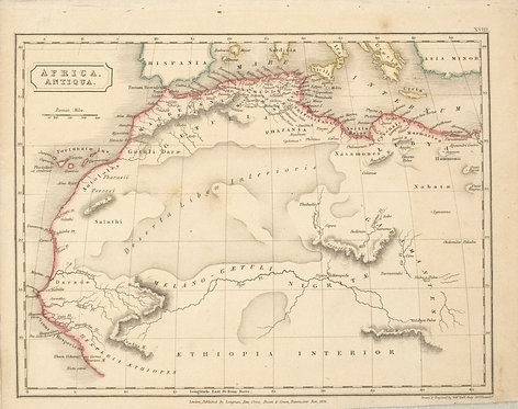 1826 Hall Map of Northern Africa