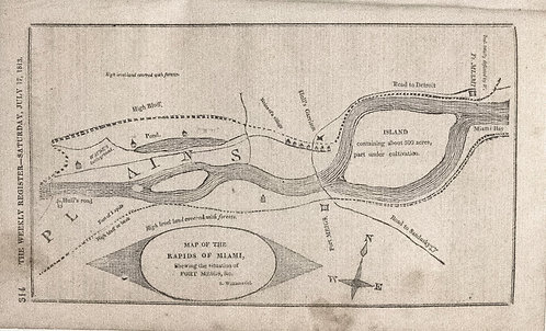 1812 Map of Miami River Rapids, OH (in booklet)