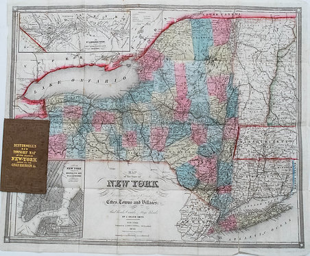 1855 Distrunell Township Map of New York