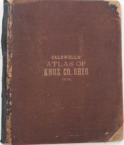 1896 Caldwell Knox County Ohio Atlas