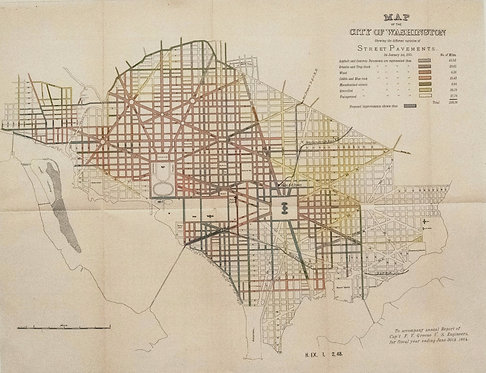 1885 Cpt. Greene Map of Washington D.C.
