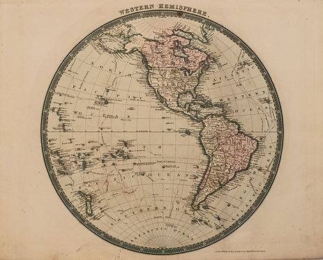 1831 Teesdale Map of the Western Hemisphere