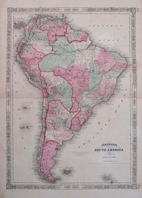 1863 Johnson Map of South America