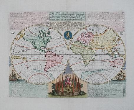 1719 Chatelain World Map