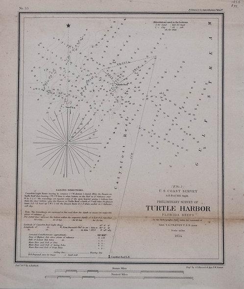 1854 Turtle Harbor Florida Reefs Survey