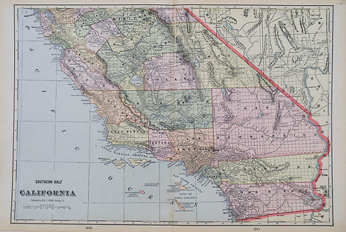 1900 Cram Map of Southern California