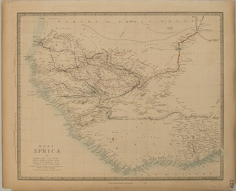 1840 SDUK Map of West Africa