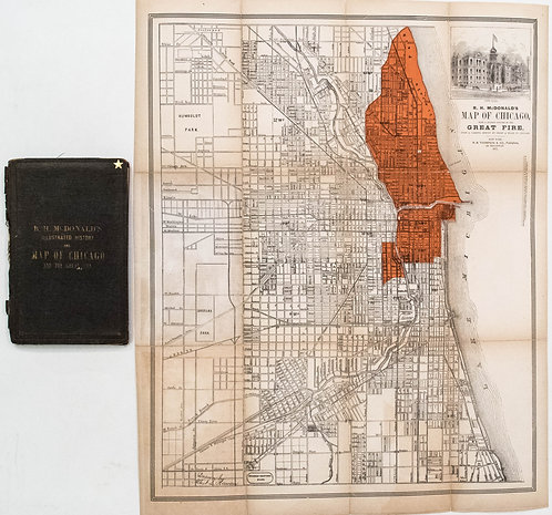 1871 McDonald's Map of Chicago Fire