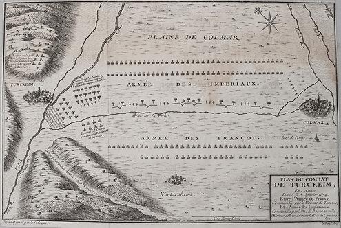 1705 Coquart Map of the Battle of Turckheim