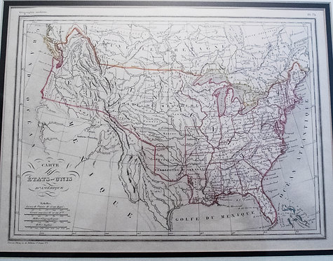 1830 Malte-Brun Map of the United States