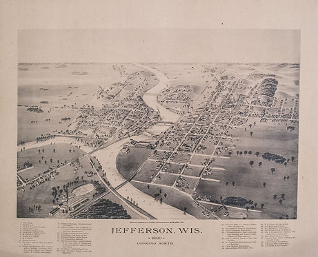 1893 Bird's Eye View of Jefferson, WI