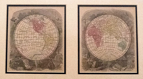 1857 Morse / Gaston Two Window Map of the World