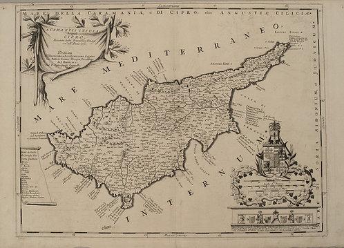 1690 Coronelli Map of Cyprus