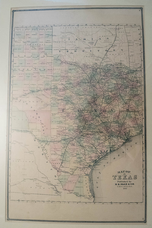 1887 Page Co. Map of Texas