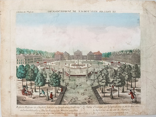 1780 Moreau View of Nymphenburg Palace in Munich