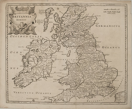1695 Morden Map of the British Isles in Roman Times