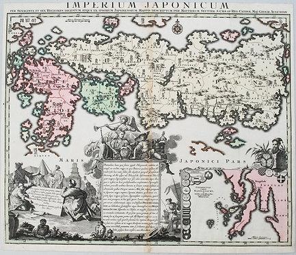 1740 Seutter Map of Japan
