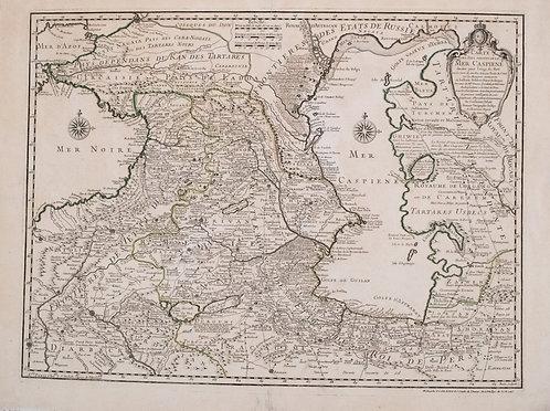 1730 Delisle/Buache Map of The Caucasus and Caspian Region