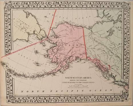 c. 1871 Mitchell Map of Alaska
