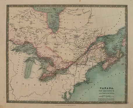1831 Teesdale Map of Canada