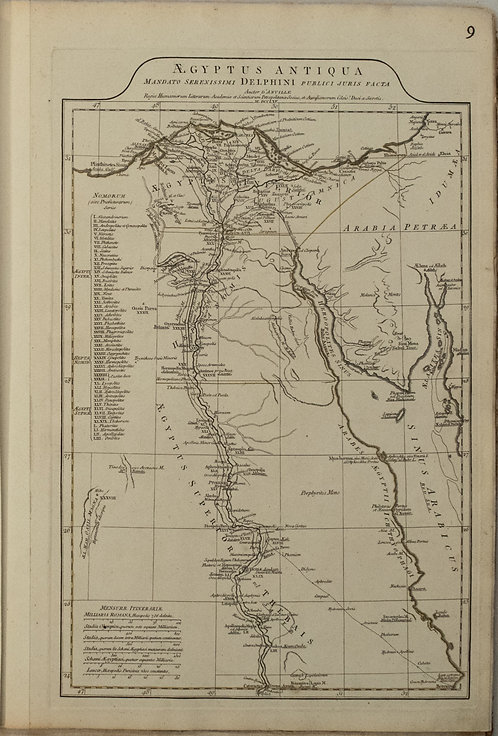 1765 d'Anville Map of Ancient Egypt