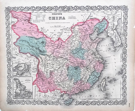 1865 Colton Map of China