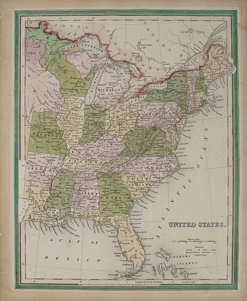 1839 Tanner Map of the United States