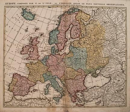 1792 Elwe Map of Europe