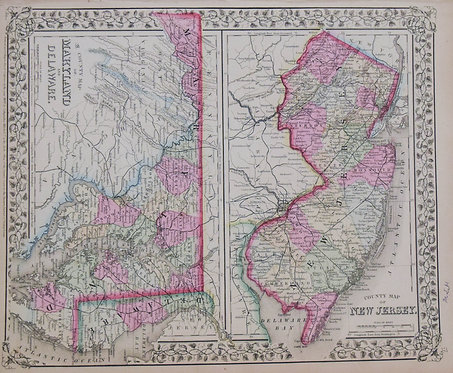 1870 Mitchell: New Jersey, Deleware and Maryland
