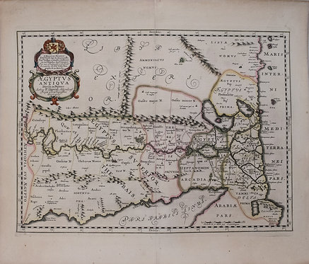 1653 DuVal Map of Upper Egypt