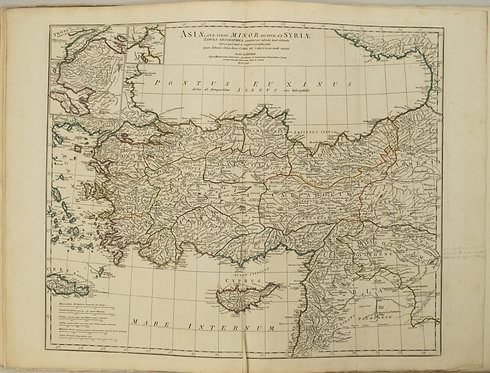 1764 d'Anville Map of Turkey and Parts of the Middle East