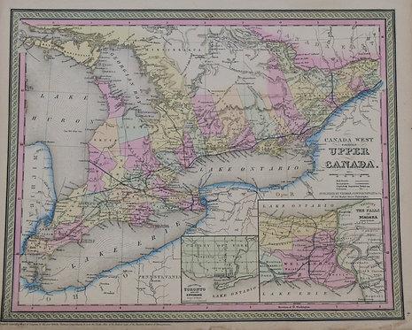 1850 Thomas, Cowperthwait Map of Upper Canada