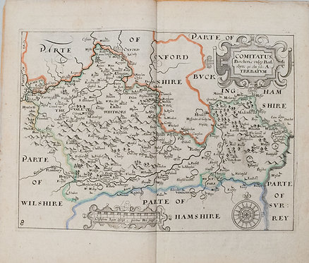 1607 Saxton/Camden Map of Berkshire UK