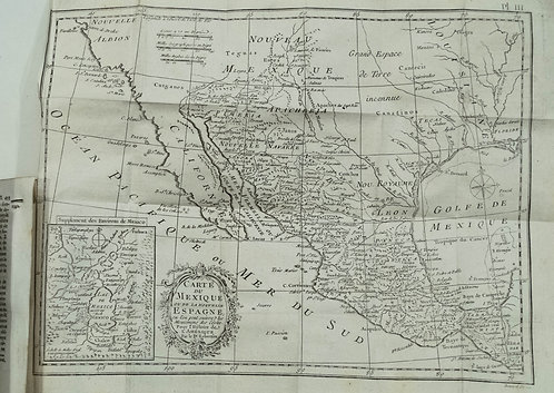 1780 Kitchin Map of Mexico in History of America