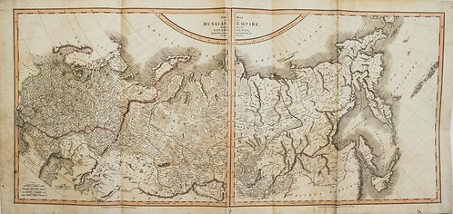 1799 Cary Map of Russia Under the Czars