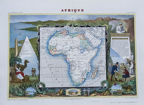 1856 Levasseur Map of Africa