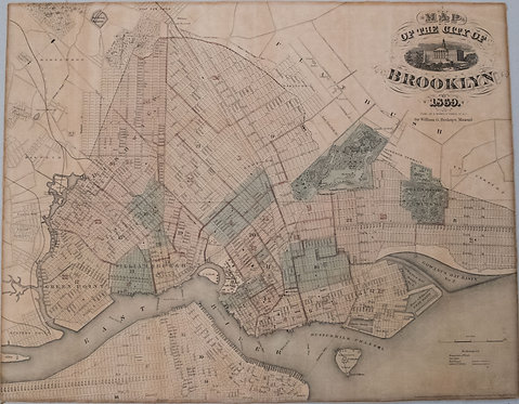 1869 Bishop Map of Brooklyn