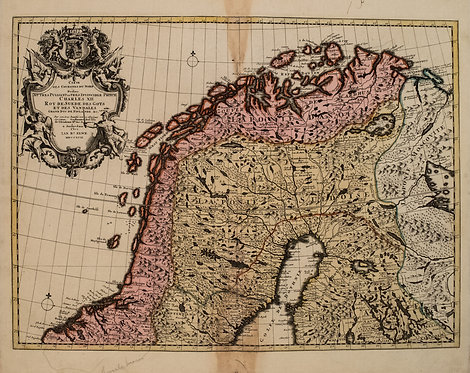 1792 Elwe Map of Northern Scandinavia