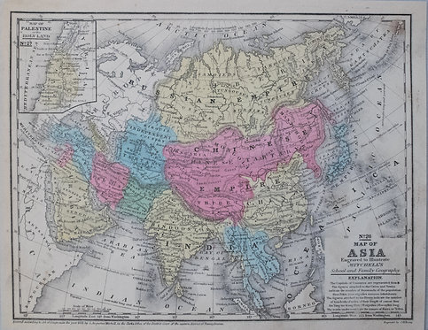 1852 Mitchell Map of Asia