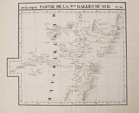 1825 vanderMaelen Map of Southeast Australia